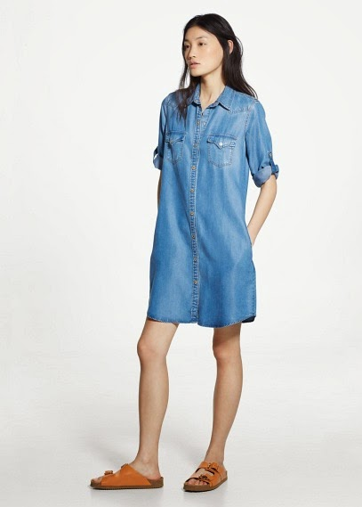 Mango 2015 Elbise Modelleri  kısa kot elbise