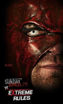 poster para el show de ppv de la wwe extreme rules 2012 kane