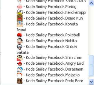 Daftar Emoticon Facebook Terbaru