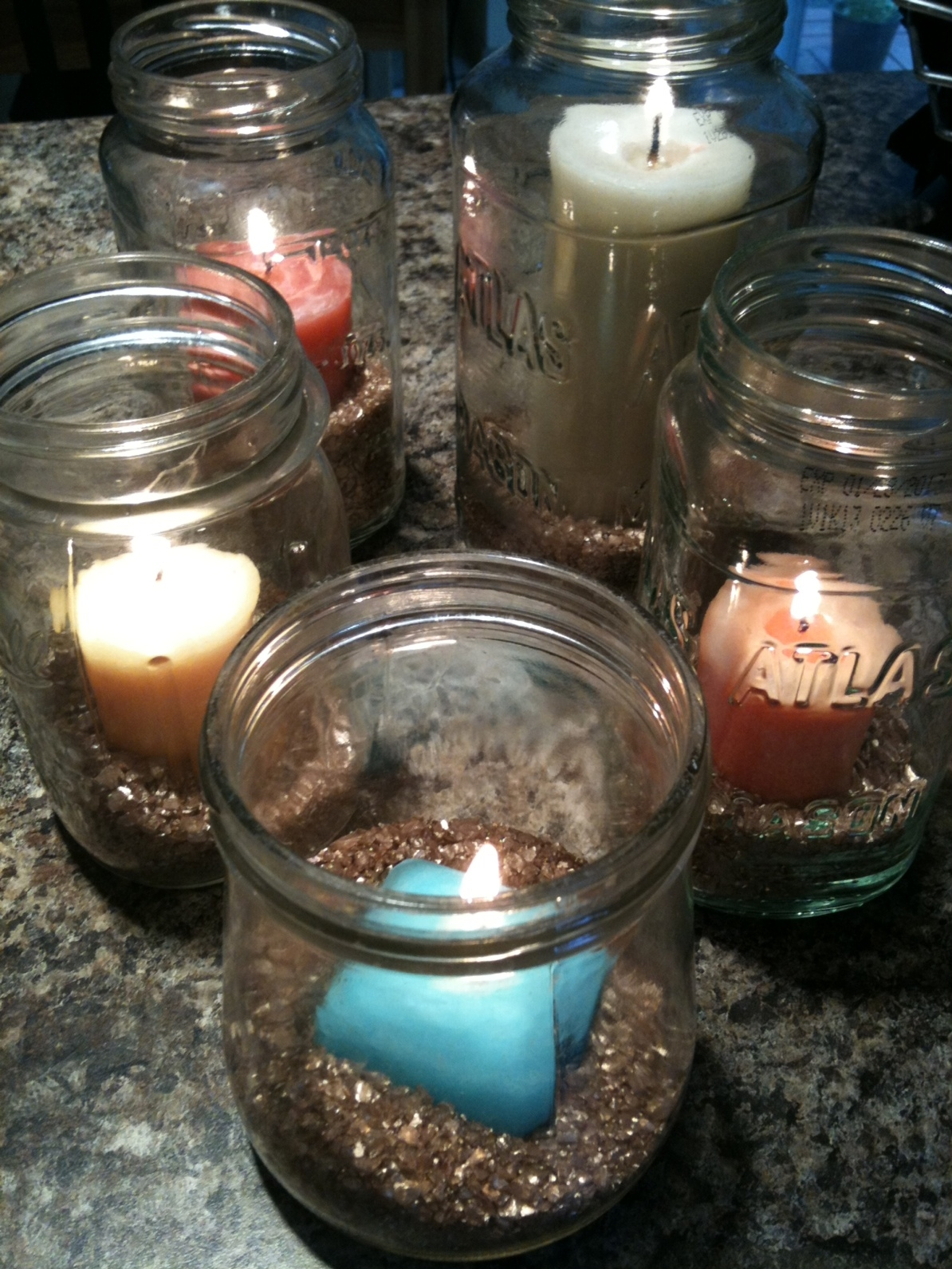 In knots quick craft mason jar candles for Mason jar candle crafts