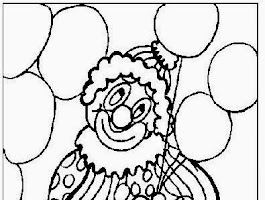 Free Clown Coloring Page Printables