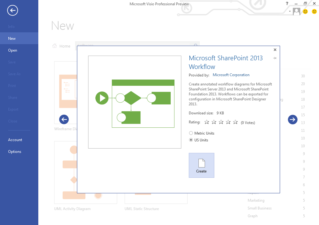 Visio 2013 Preview - creating workflows for SharePoint2013