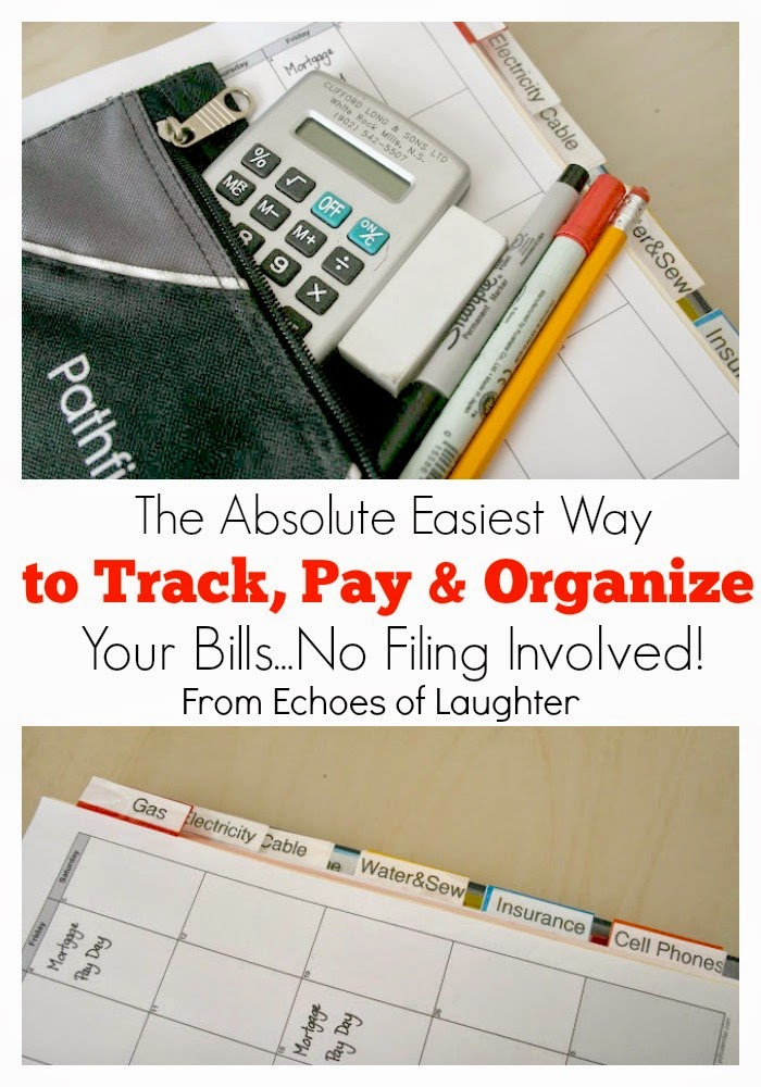The Absolute Easiest Way To Track, Pay & Organize Your Household Bills...No Filing Involved!
