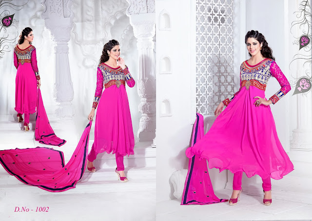 Georgette Embroidered Anarkali Suit, Georgette Dress, Dresses Georgette, Buy Online Frock Style dress
