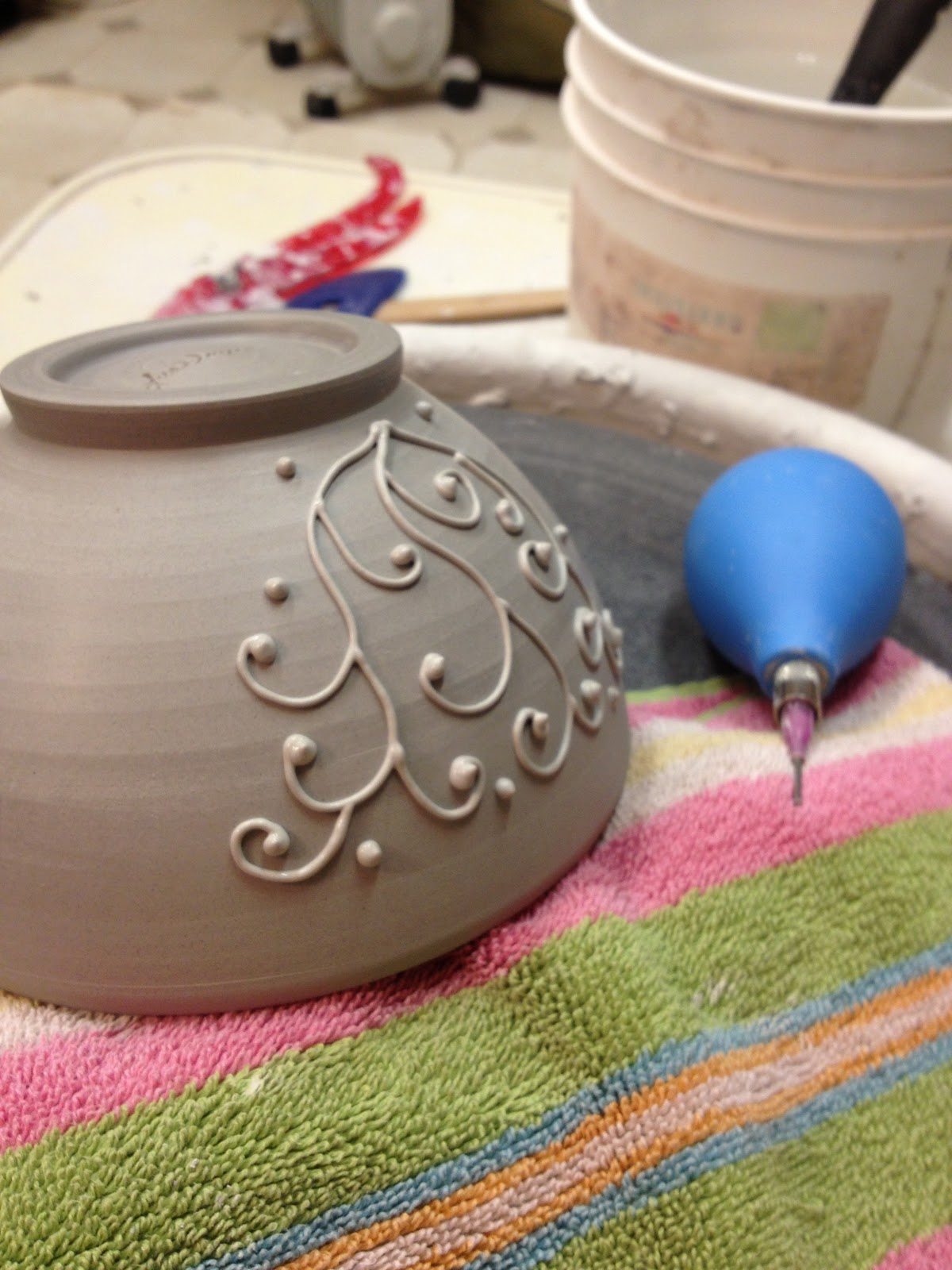 Slip Trailing Pottery By Lisa