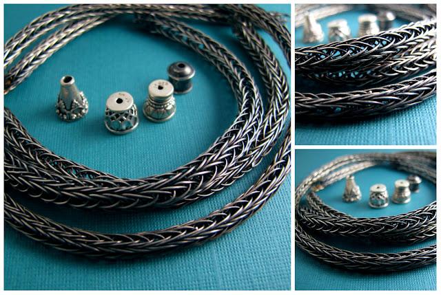 free tutorial viking knit bracelet silver metal chain jewelry