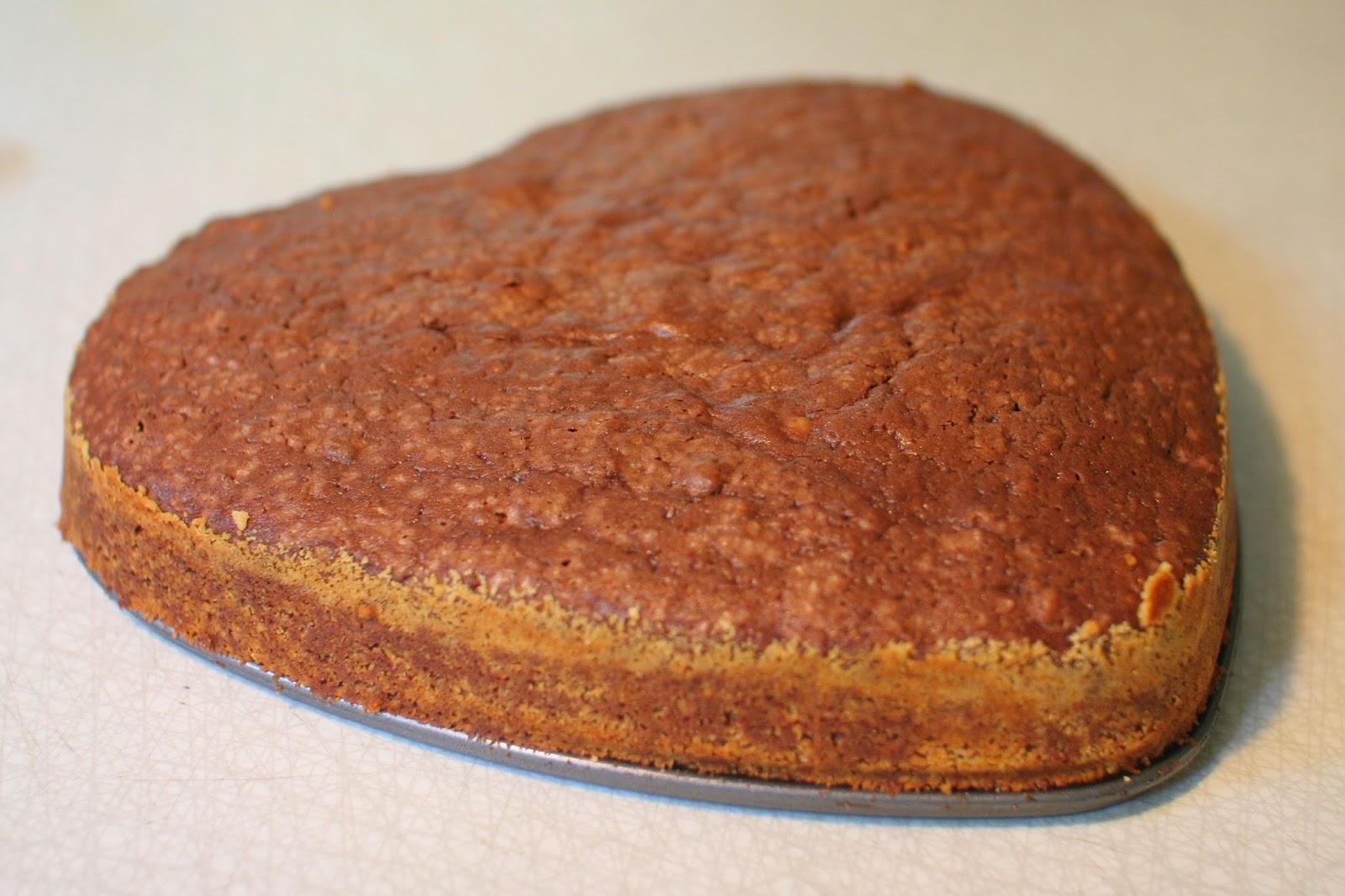 chokladkaka med mandel