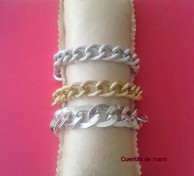 Cadena plata dorada