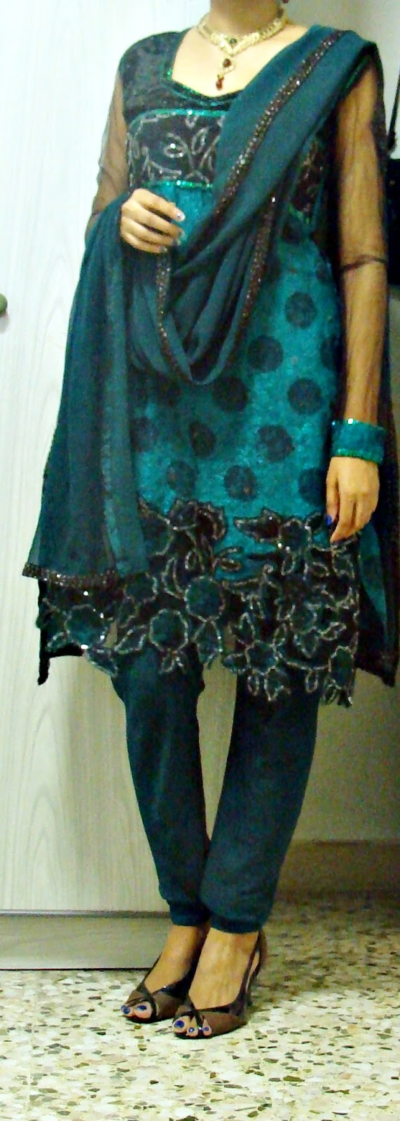 how to make dress with dupatta