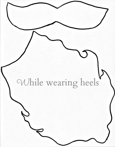 while wearing heels santa s beard ho ho ho how to
