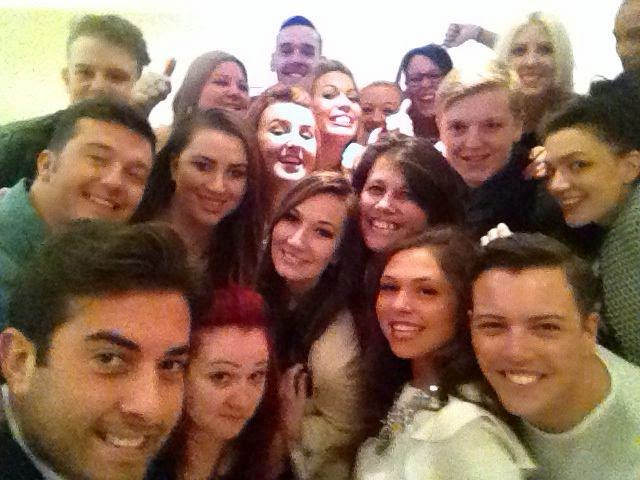 TOWIE Group selfie with Arg, Diags & Fran