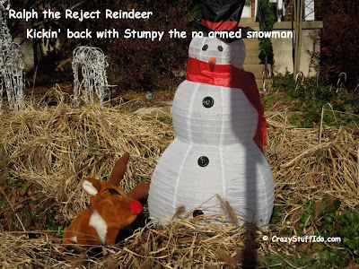 Ralph the Reject Reindeer - Kickin Back with Stumpy the No Armed Snowman