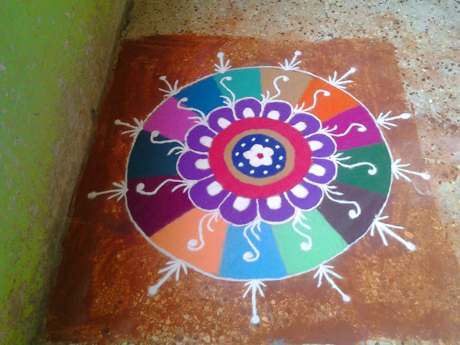 Easy Rangoli Designs 11