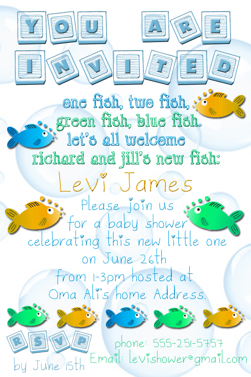 Fishy Theme Baby Shower |