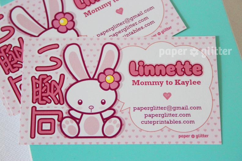 New to the shop calling cardkawaii bunny colourmoves