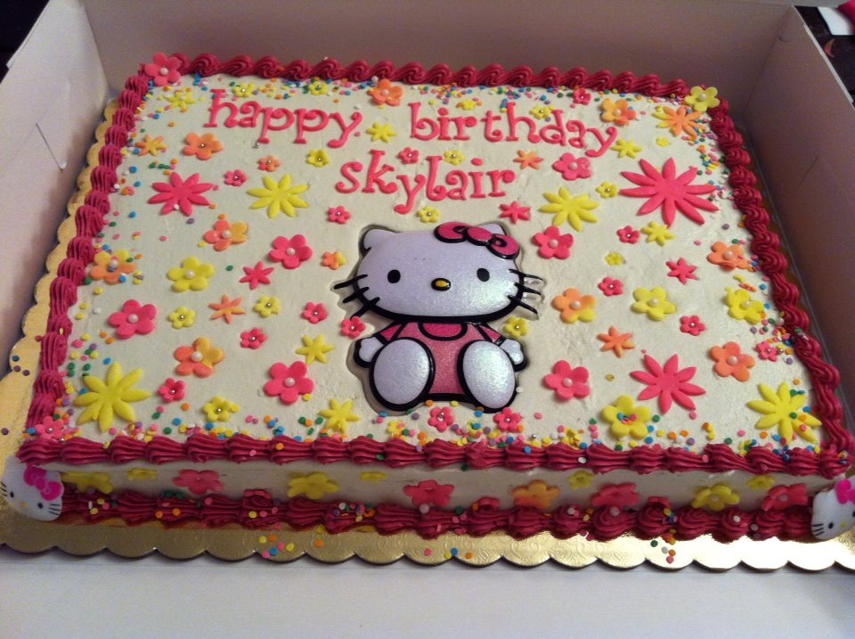 Hello Kitty Sheet Cake Images : 2 Girls 1 Cupcake: New cakes