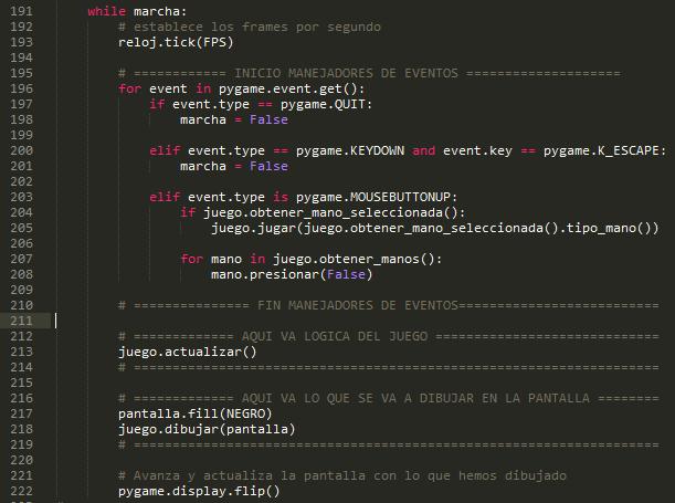 Continuamos con el código