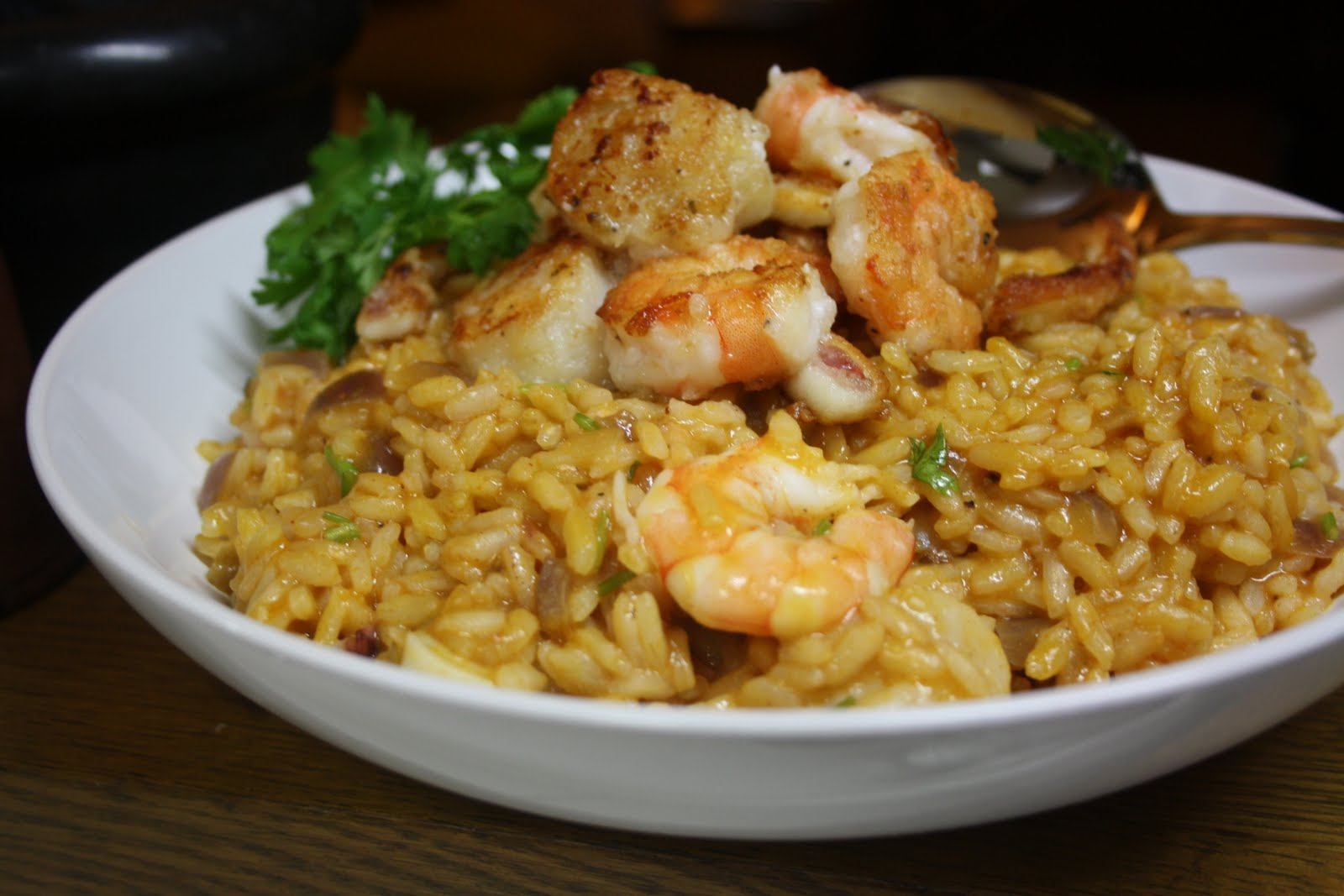 Seafood Risotto Recipe — Dishmaps