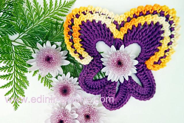 flores em croche amor perfeito com edinir-croche video-aula gratis blog youtube