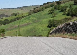 pep on the first downhill ascent on County View Drive, San Jose, California.