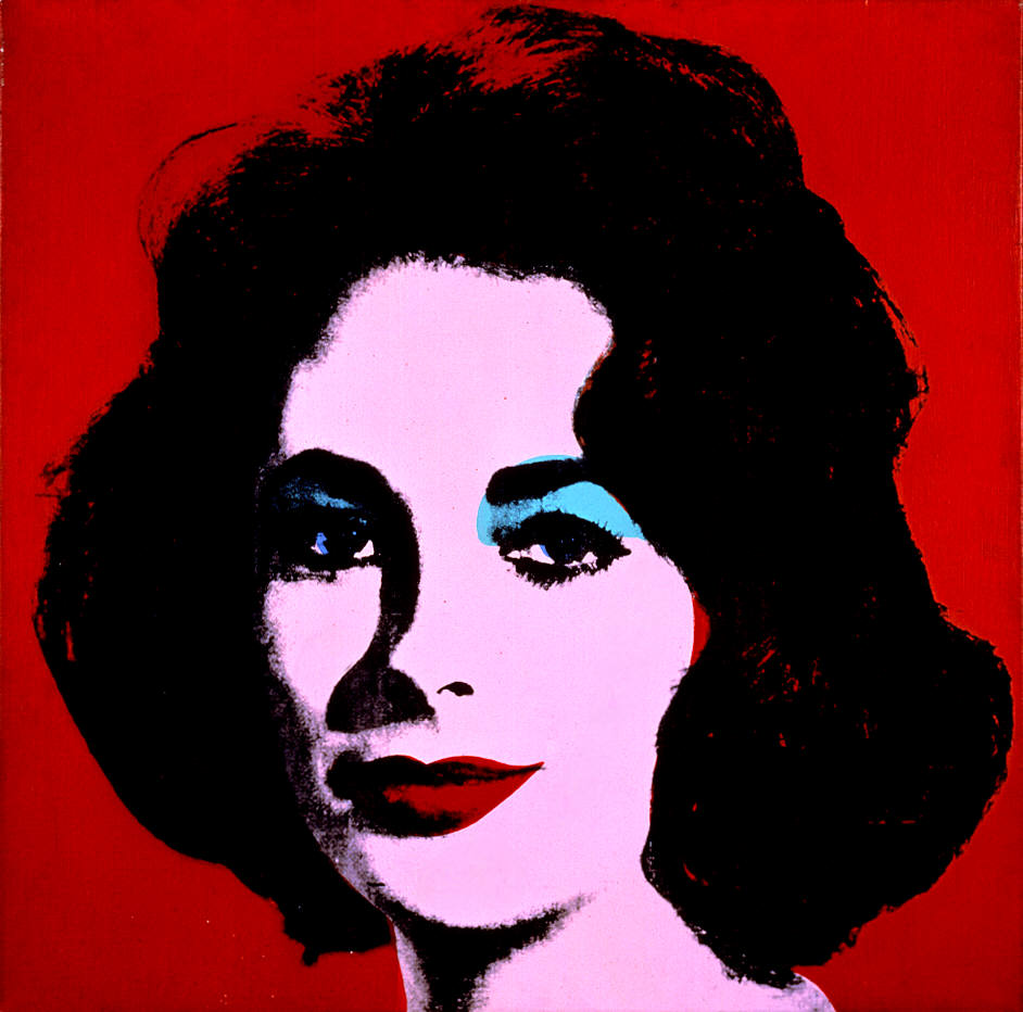 red liz 1962 by andy warhol turquoise marilyn 1964 by andy warhol