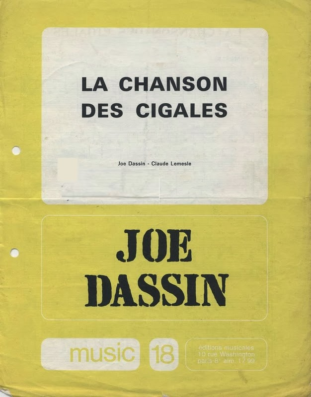 La Discographie De Joe Dassin: Partition