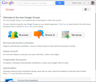 Google Groups Homepage