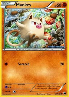 Mankey Plasma Freeze Pokemon Card