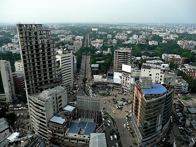 sky view of Dhaka city