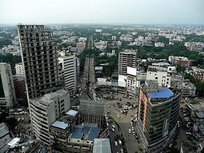 sky view of Dhaka city