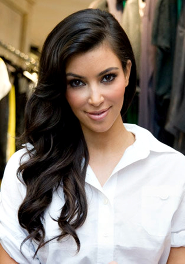kimberly caldwell hairstyles : ... To Inspiring Kim Kardashian Wavy Hairstyles Short Hairstyle 2013