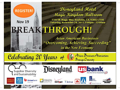 ABAOC Asian Business Association Orange County presents Breakthrough