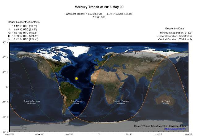 Mercurio transita el Sol 2016