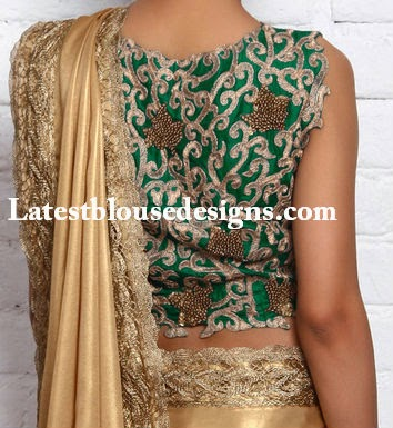 sleevelss saree blouse
