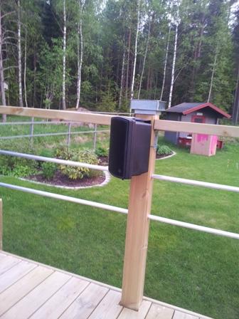 Högtalare på altan utomhushögtalare