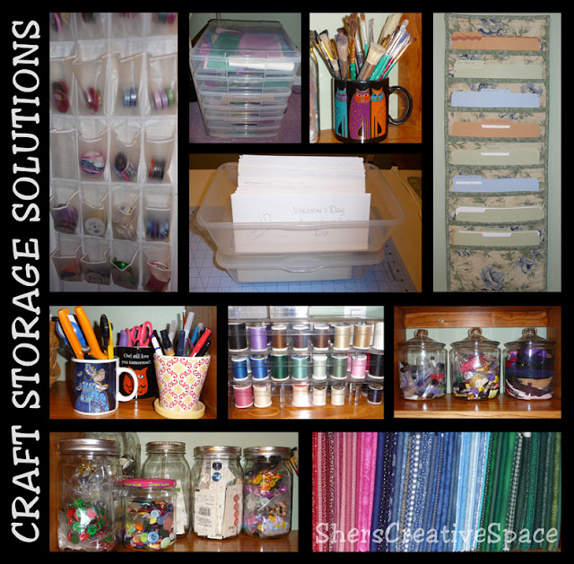Sher 39 s creative space craft storage solutions for Storage solutions for craft rooms