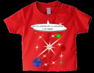"Camiseta manga corta para bebé ""Tu universo"" color rojo"