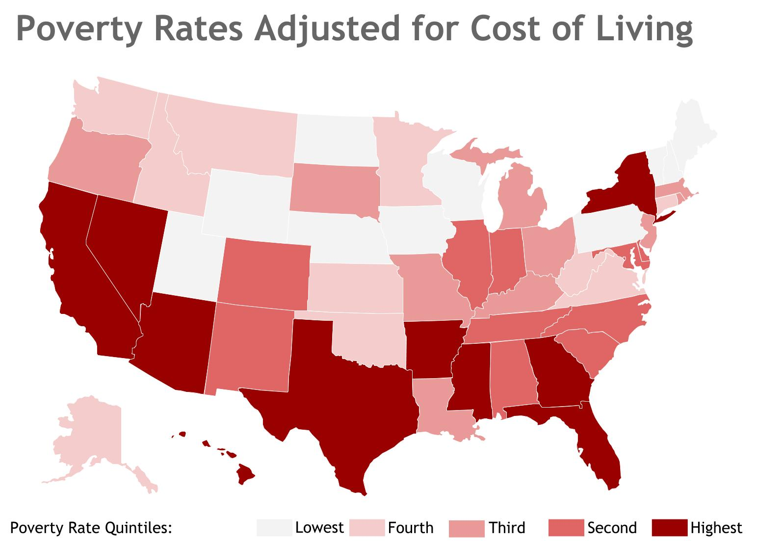 California and new york are poorer than you think mises wire Cost of living in different states in usa
