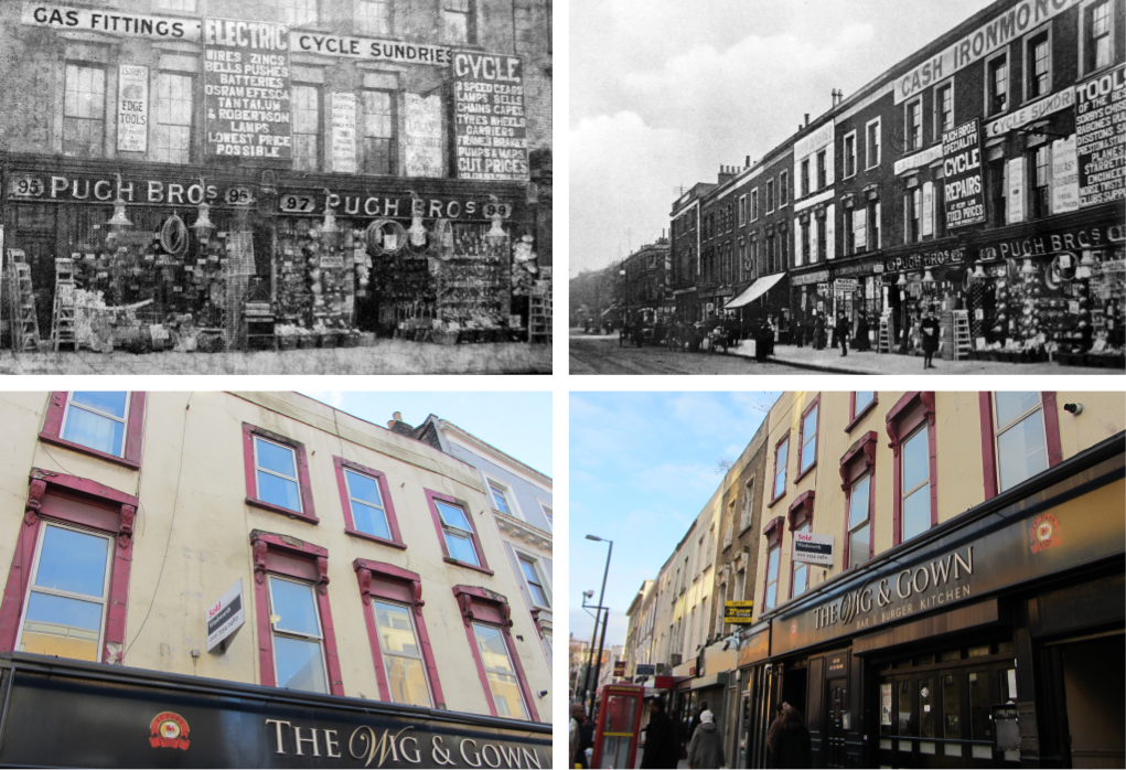 Jane\'s London: Holloway then and now