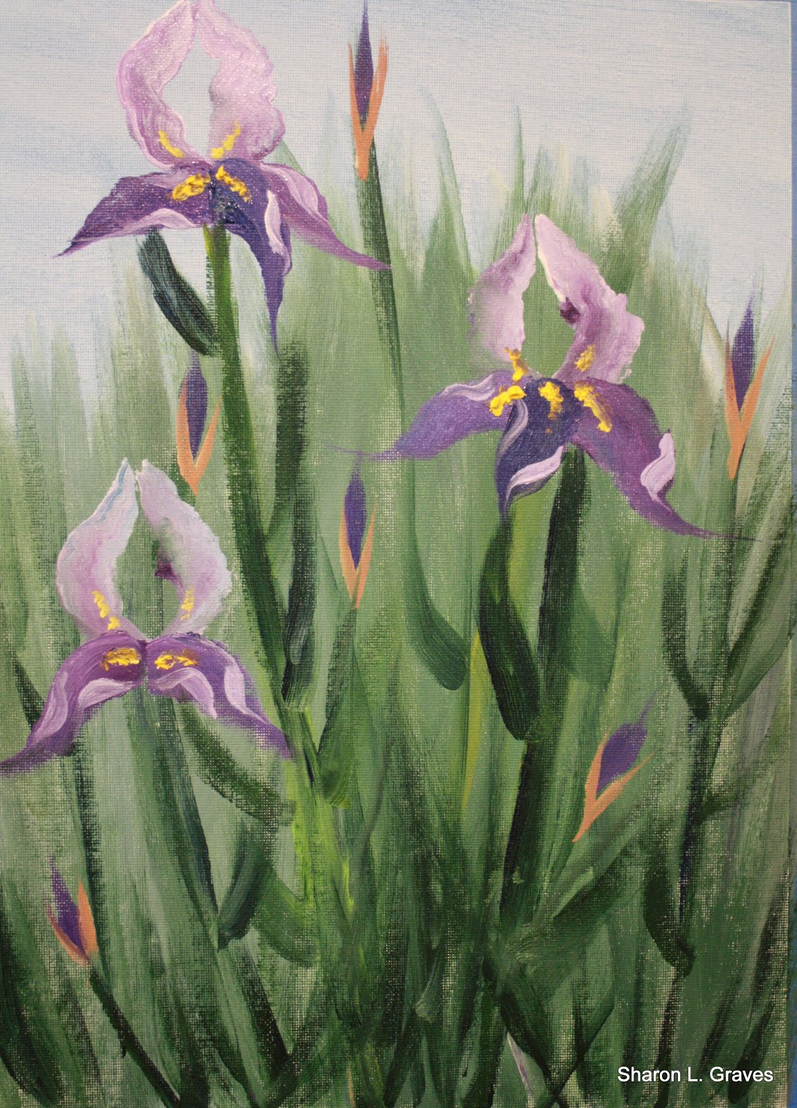 Iris Painting Single Subject Class