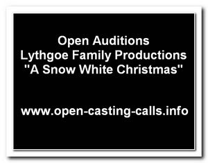 A Snow White Christmas Los Angeles Open Auditions