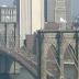 Kifehéredtek az amerikai zászlók a Brooklyn híd tetején