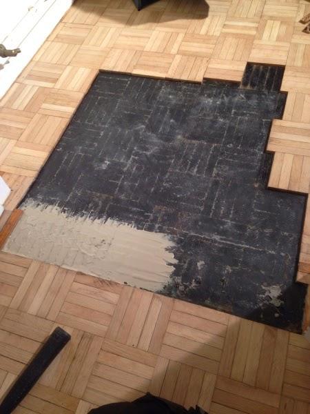 What A Find Beautiful Parquet Floor Found Under Carpet In Newly