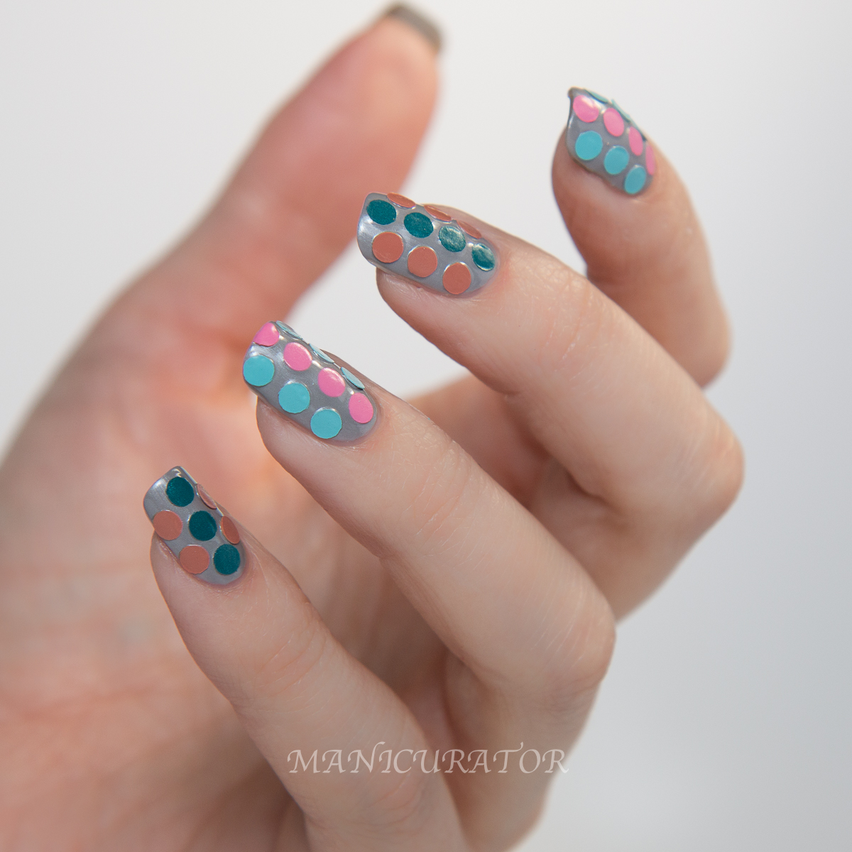 Barielle Gentle Breeze Spring Heaven Sent dot nail art