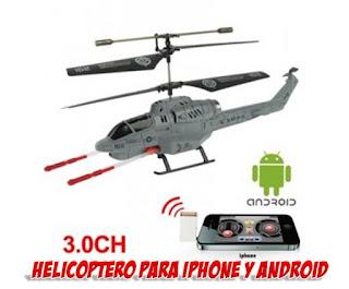 helicoptero de radio control para iphone