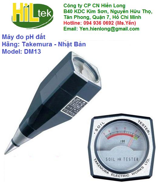 Máy đo pH đất DM13 Takemura