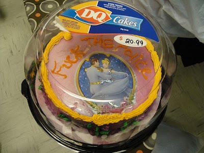 funny cinderella cake