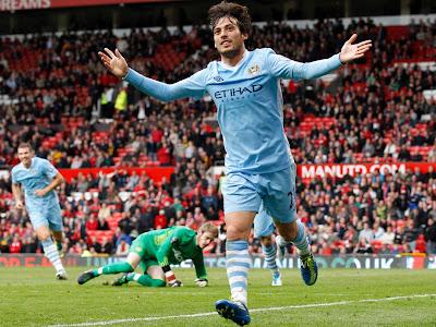 David silva manchester city Goal Celebration