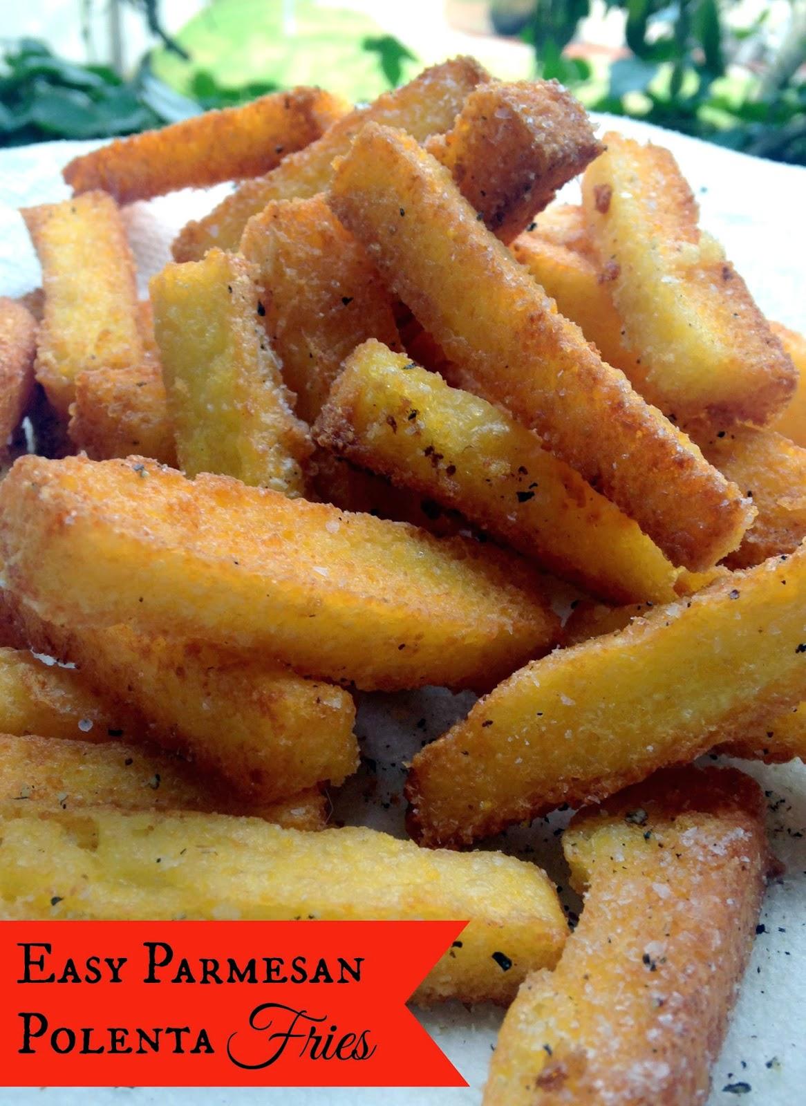 Easy & Amazing Parmesan Polenta Fries
