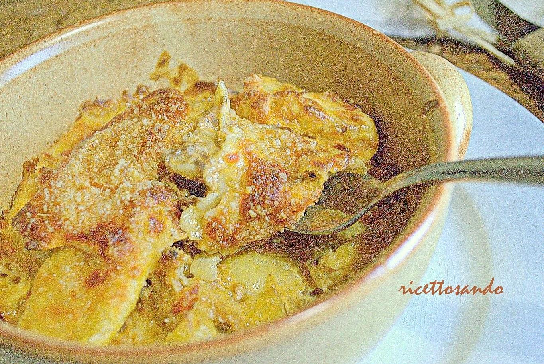 Pasta al gratin con ragù di pollo ricetta primi gratinata al forno